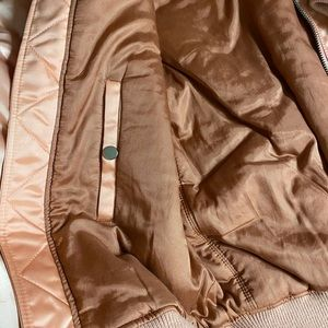 Acne Jackets & Coats - Acne Studios Clea Bomber Jacket in Pink